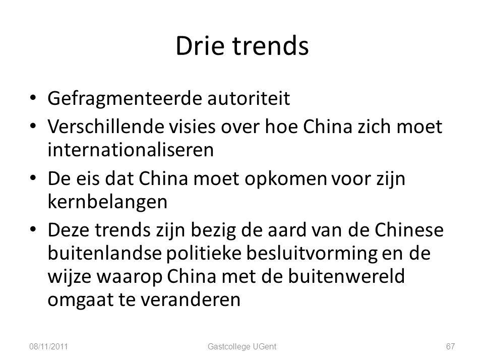 Drie trends Gefragmenteerde autoriteit