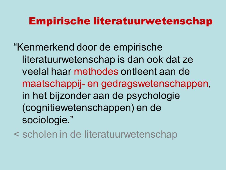 Empirische literatuurwetenschap