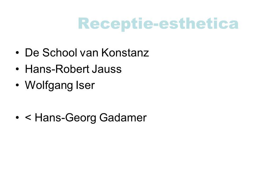 Receptie-esthetica De School van Konstanz Hans-Robert Jauss