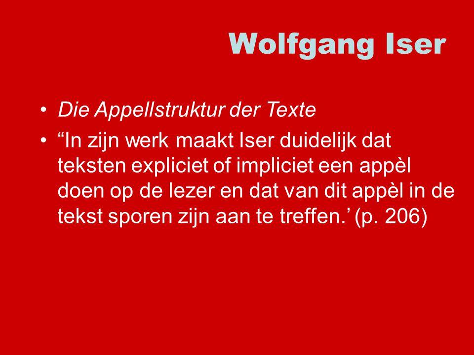 Wolfgang Iser Die Appellstruktur der Texte