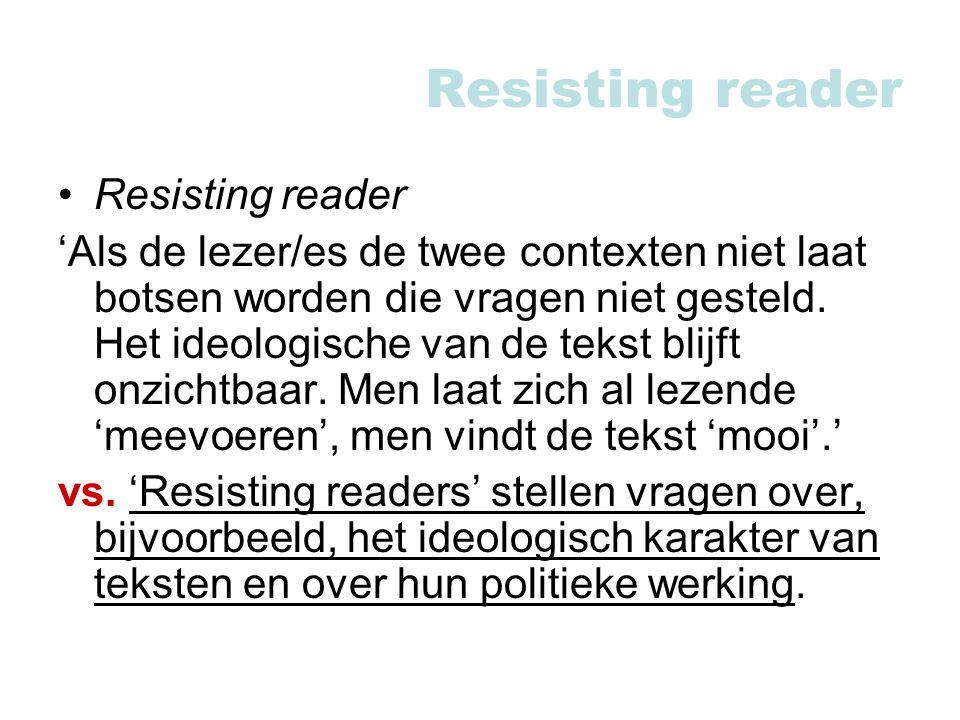 Resisting reader Resisting reader