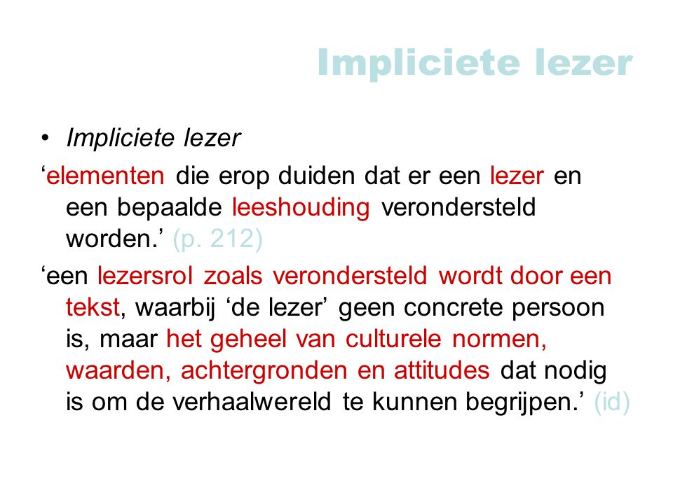 Impliciete lezer Impliciete lezer