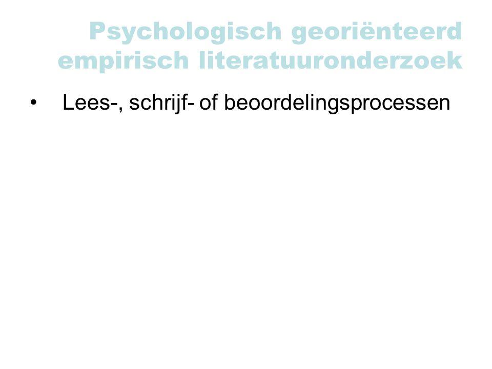 Psychologisch georiënteerd empirisch literatuuronderzoek