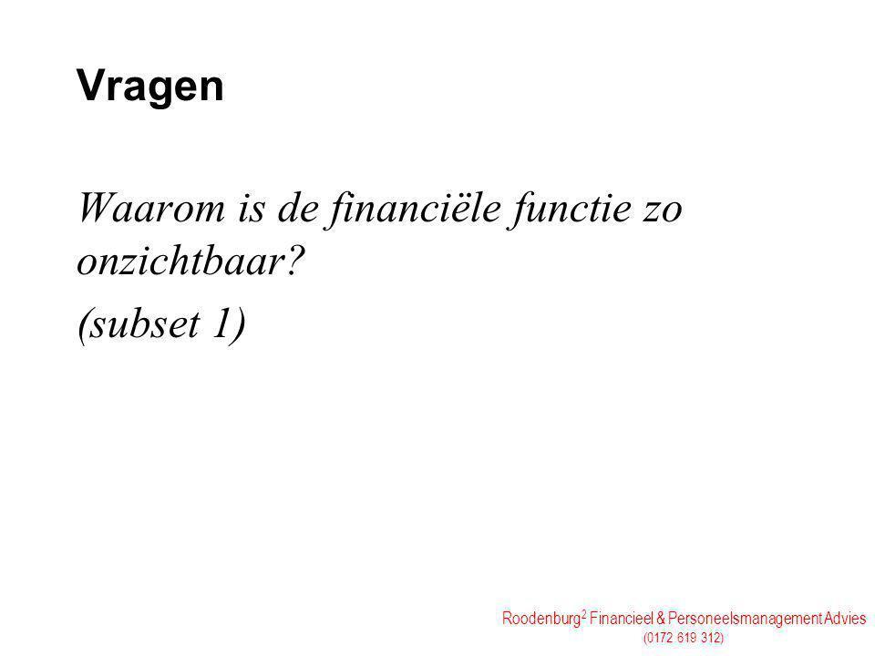 Vragen Waarom is de financiële functie zo onzichtbaar (subset 1)