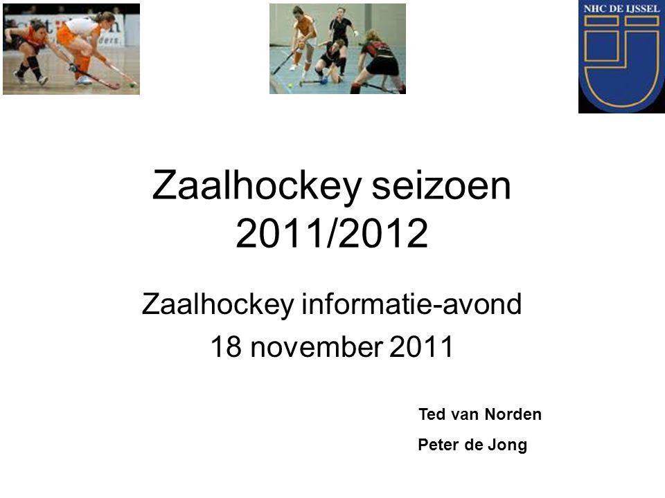 Zaalhockey informatie-avond 18 november 2011