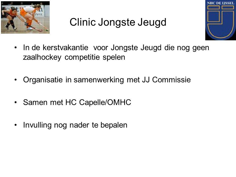 Clinic Jongste Jeugd In de kerstvakantie voor Jongste Jeugd die nog geen zaalhockey competitie spelen.
