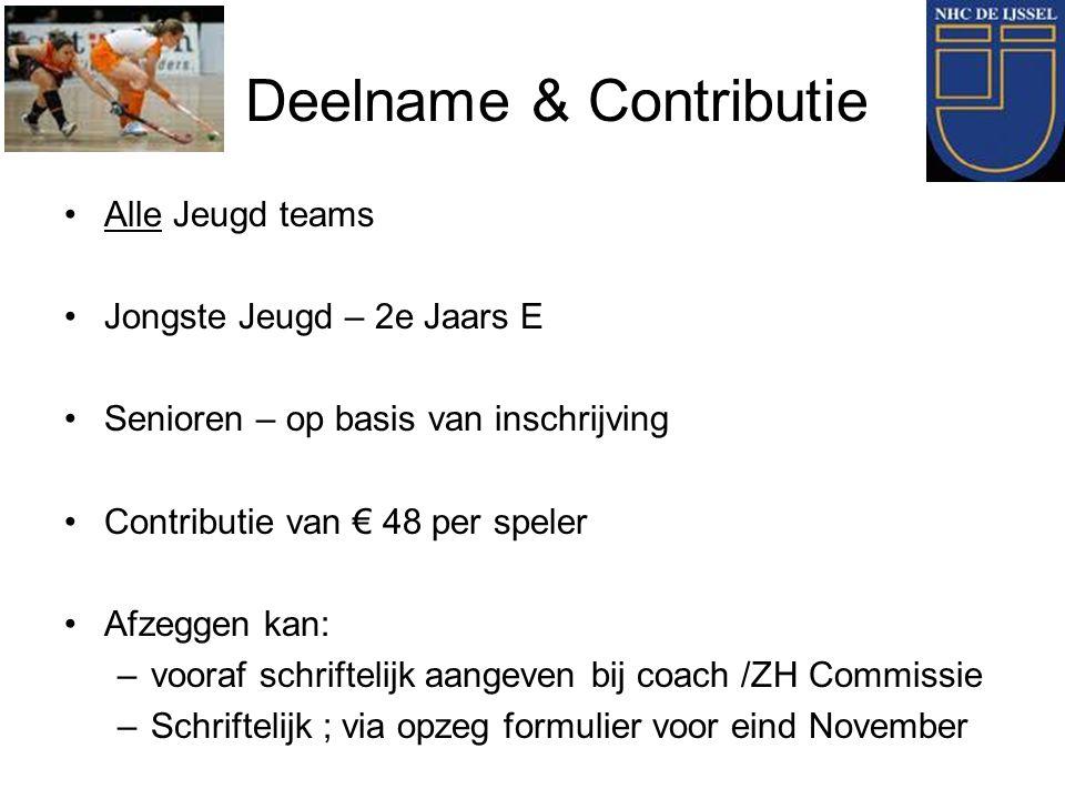 Deelname & Contributie