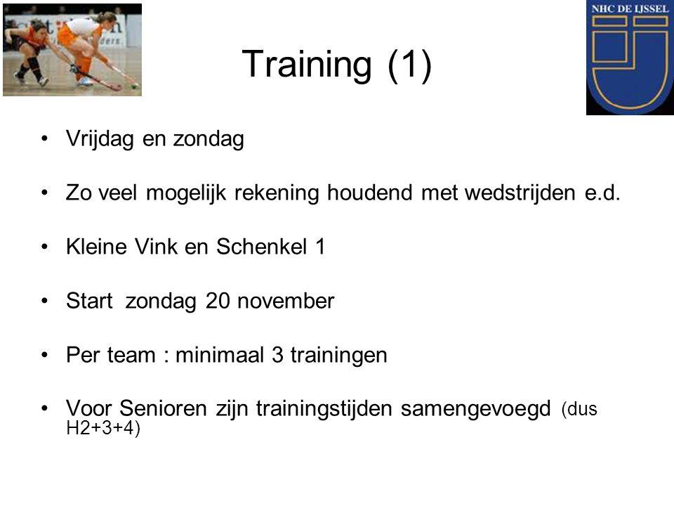 Training (1) Vrijdag en zondag