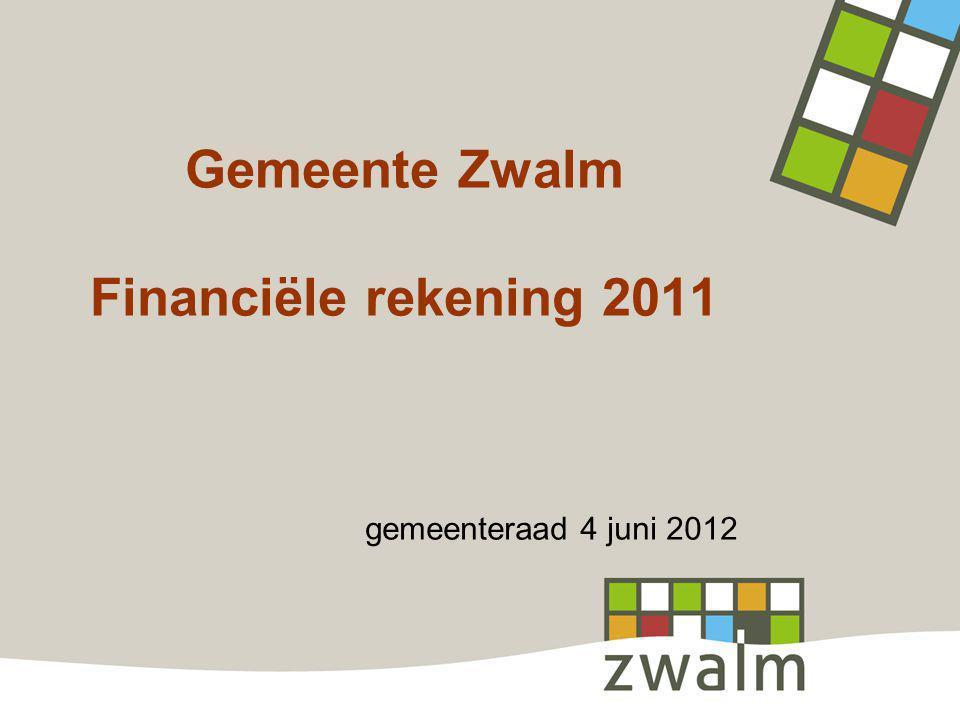 Gemeente Zwalm Financiële rekening 2011