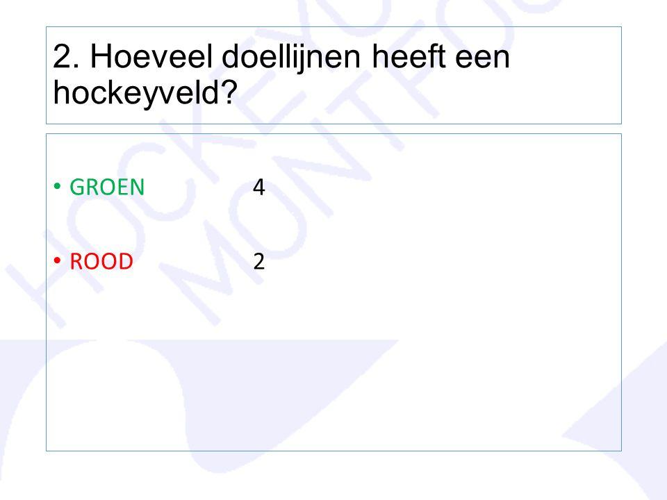 2. Hoeveel doellijnen heeft een hockeyveld