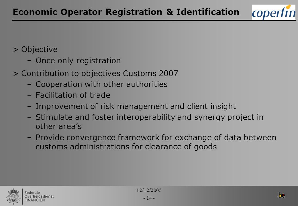 Economic Operator Registration & Identification