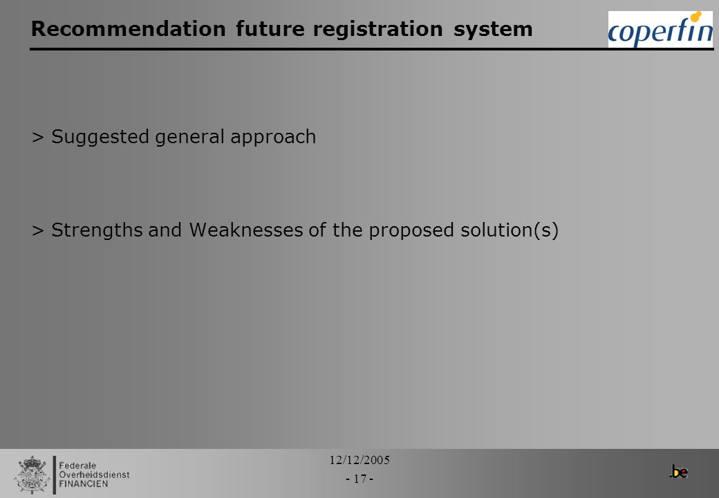 Recommendation future registration system