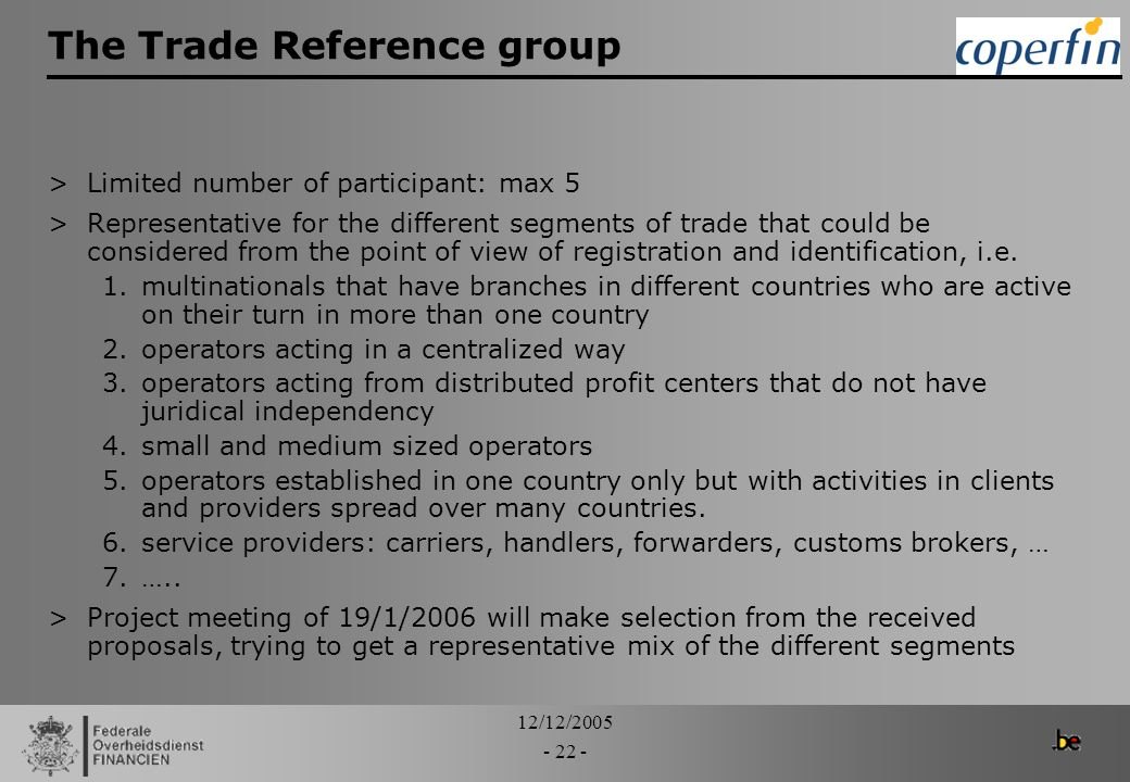 The Trade Reference group