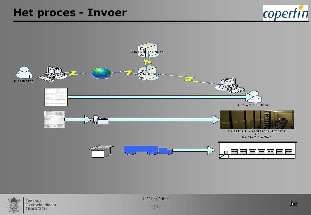 Het proces - Invoer 12/12/2005