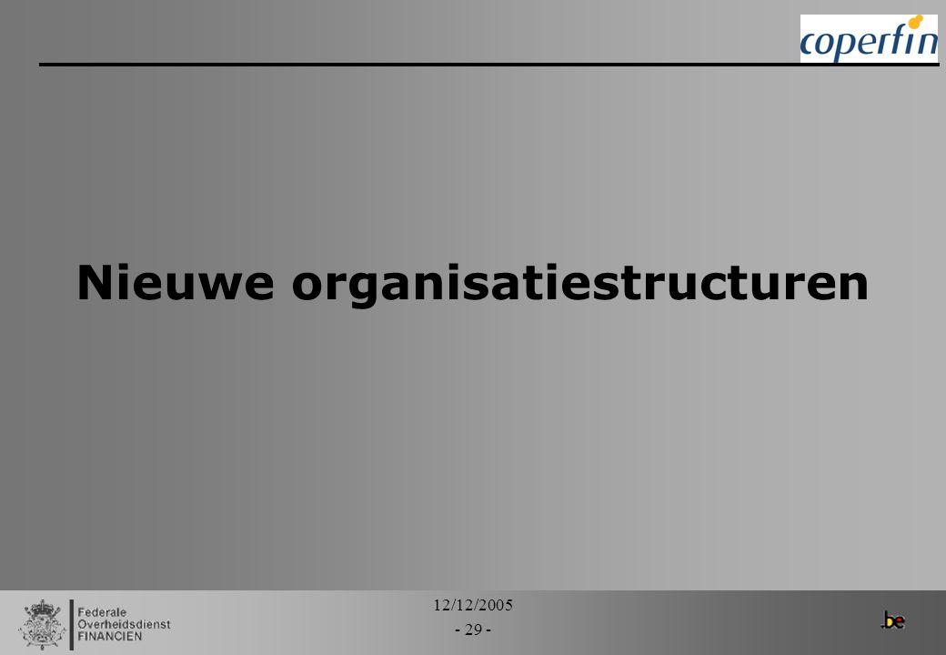 Nieuwe organisatiestructuren