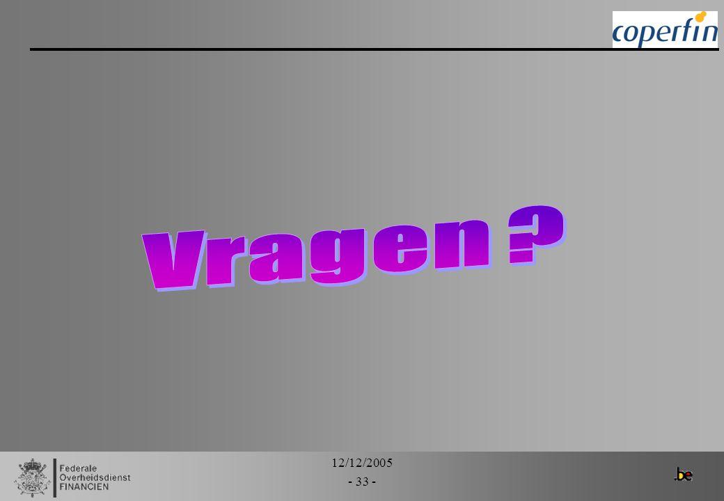 Vragen 12/12/2005