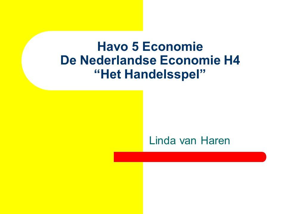 Havo 5 Economie De Nederlandse Economie H4 Het Handelsspel