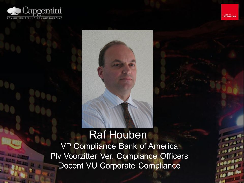 Raf Houben VP Compliance Bank of America