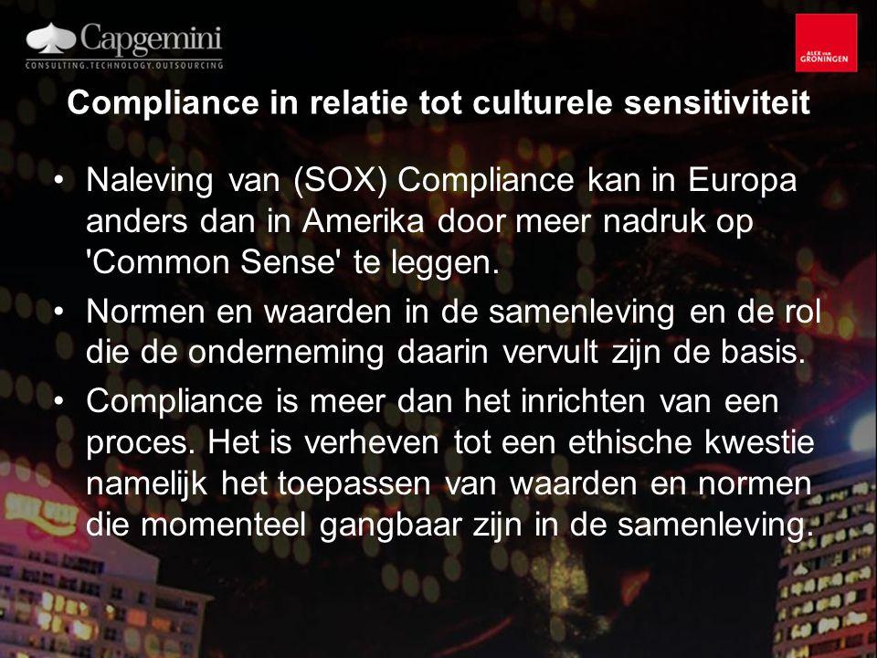 Compliance in relatie tot culturele sensitiviteit