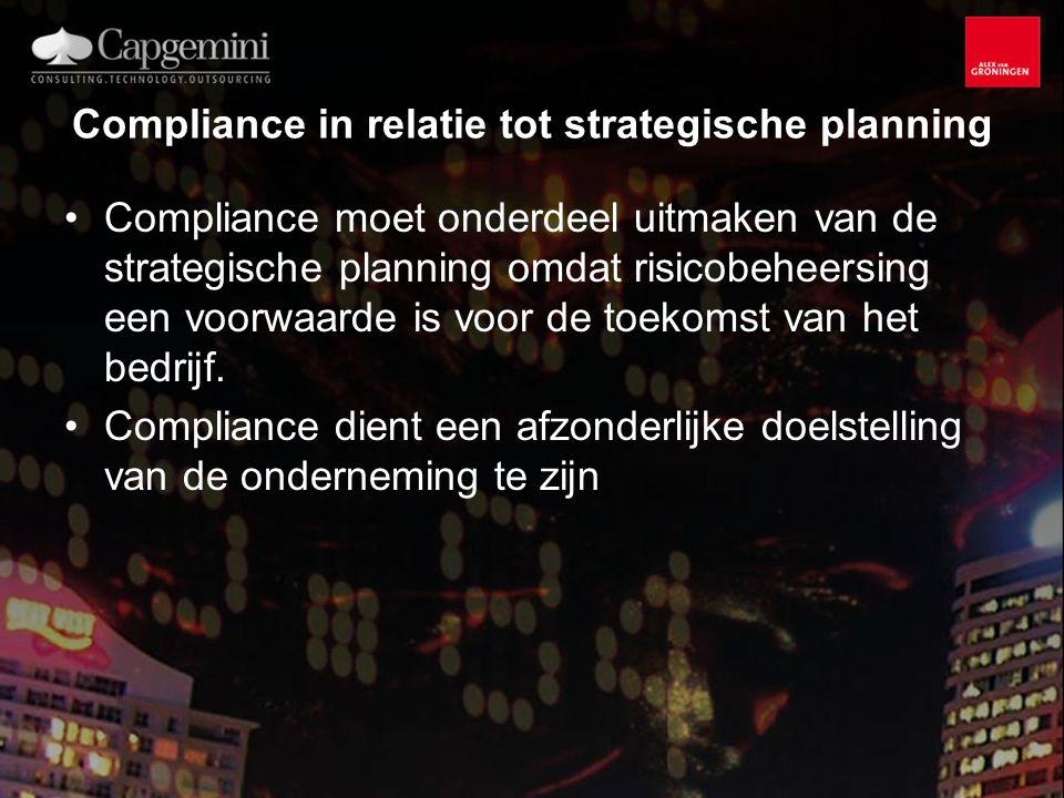 Compliance in relatie tot strategische planning