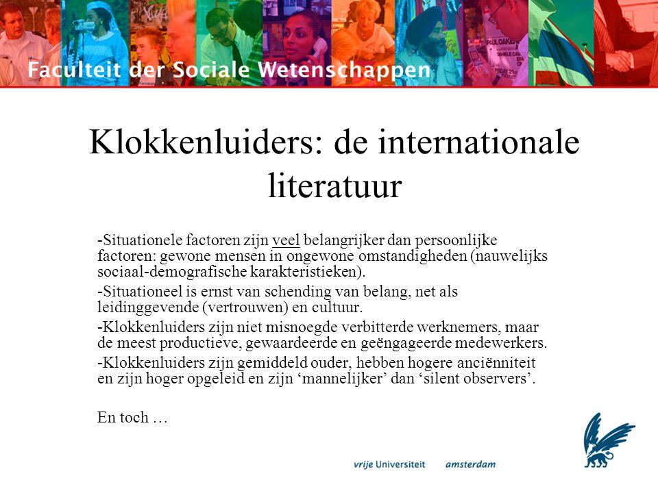 Klokkenluiders: de internationale literatuur