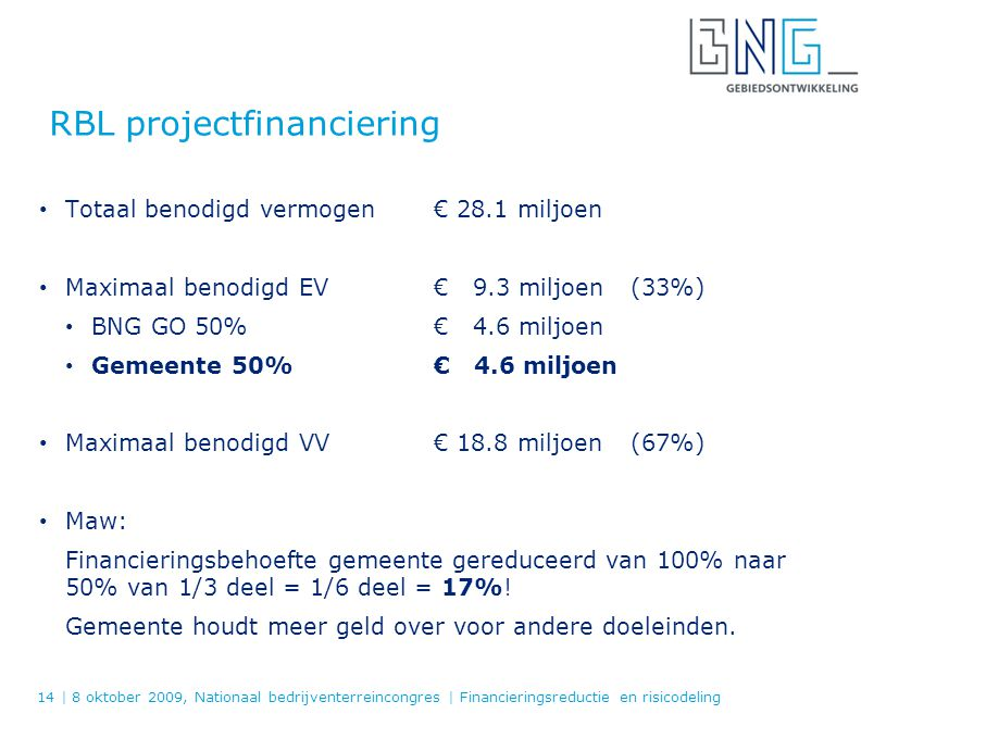 RBL projectfinanciering
