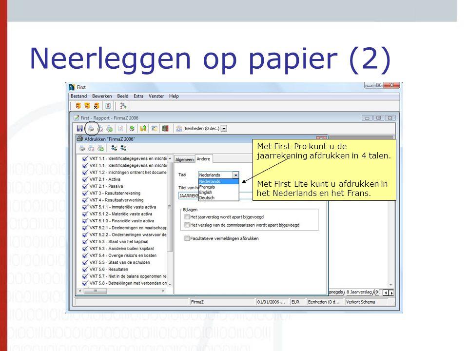 Neerleggen op papier (2)