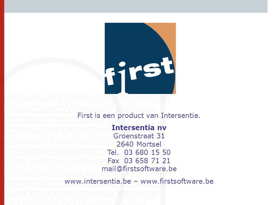 Contact First is een product van Intersentia.