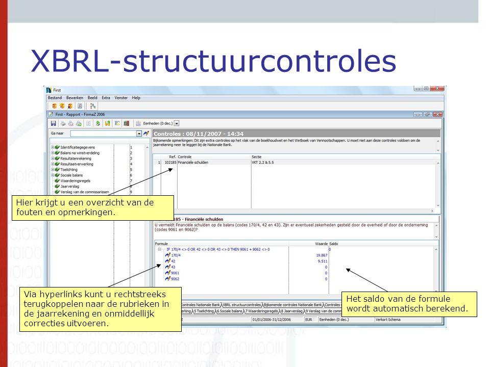 XBRL-structuurcontroles