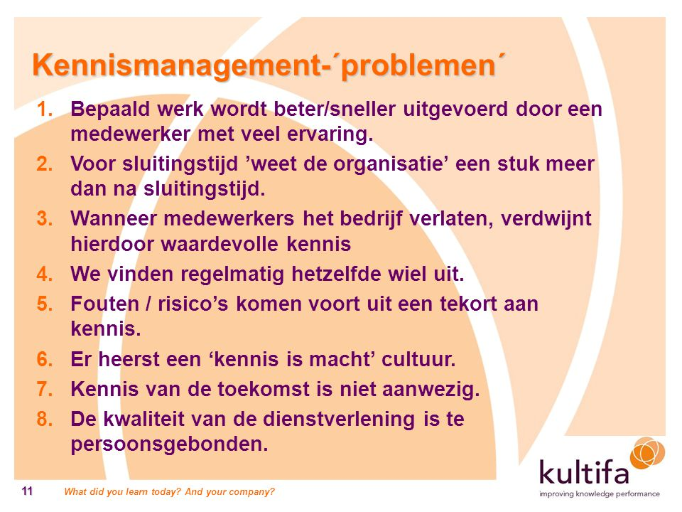 Kennismanagement-´problemen´