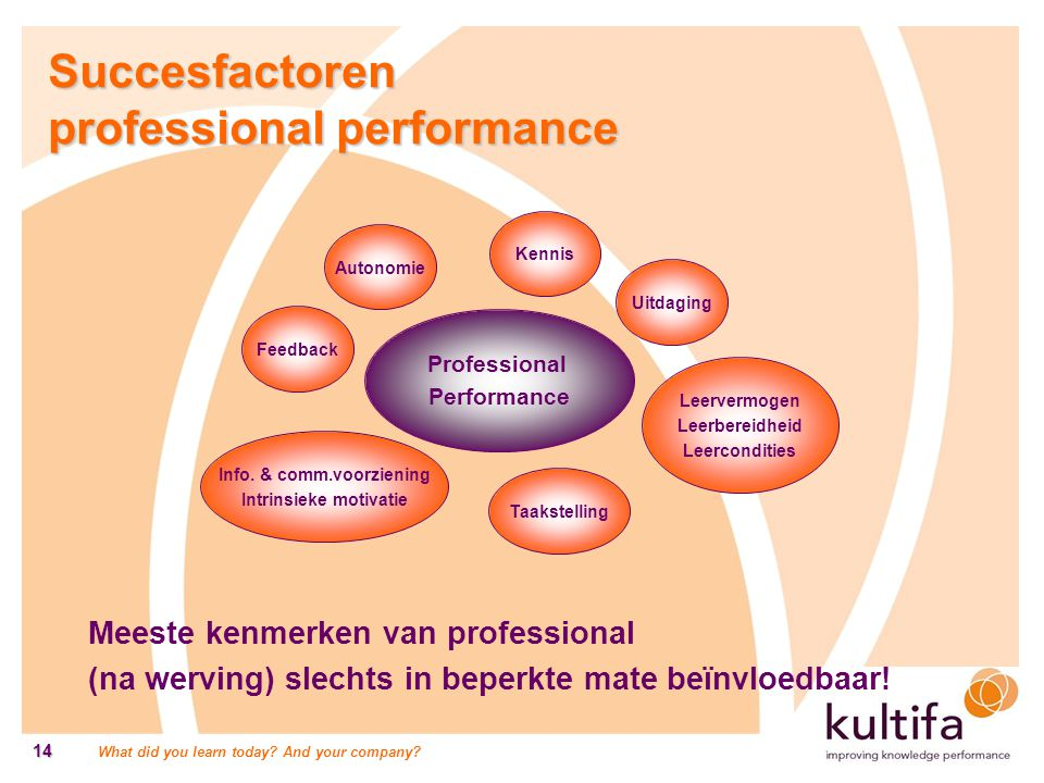 Info. & comm.voorziening Intrinsieke motivatie
