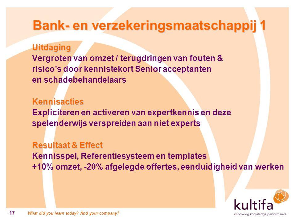 Bank- en verzekeringsmaatschappij 1