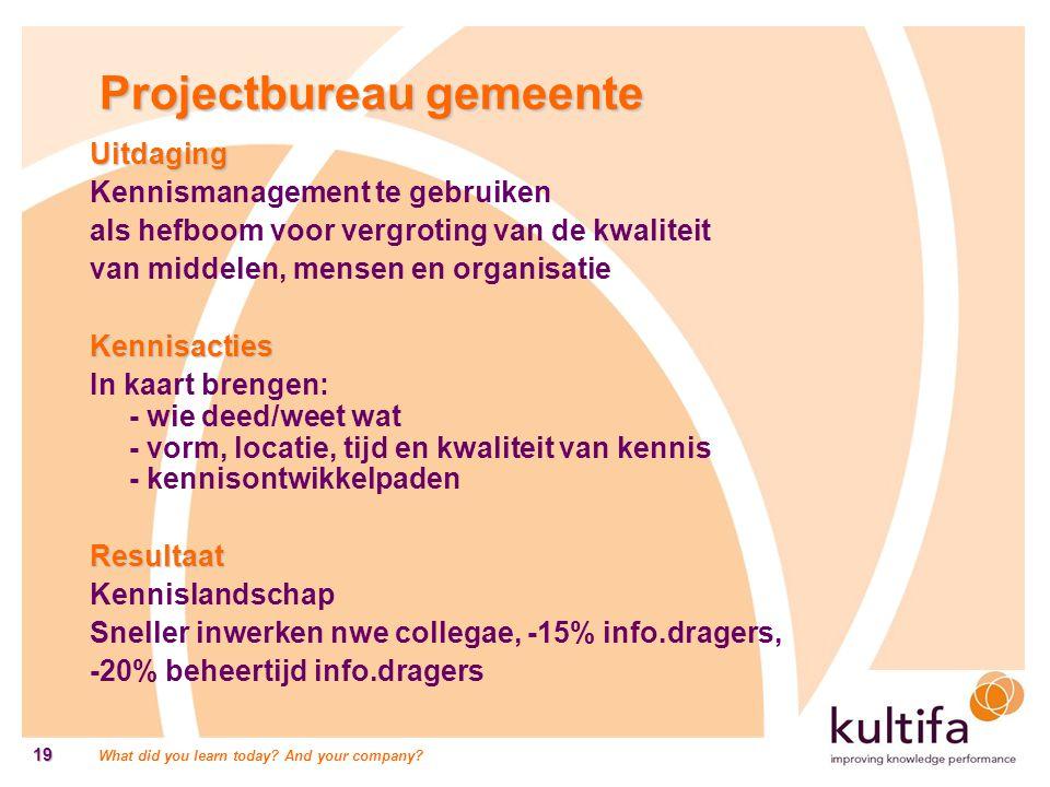 Projectbureau gemeente