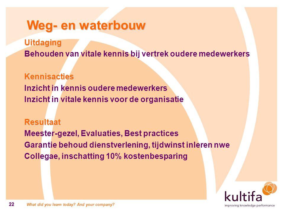 Weg- en waterbouw Uitdaging