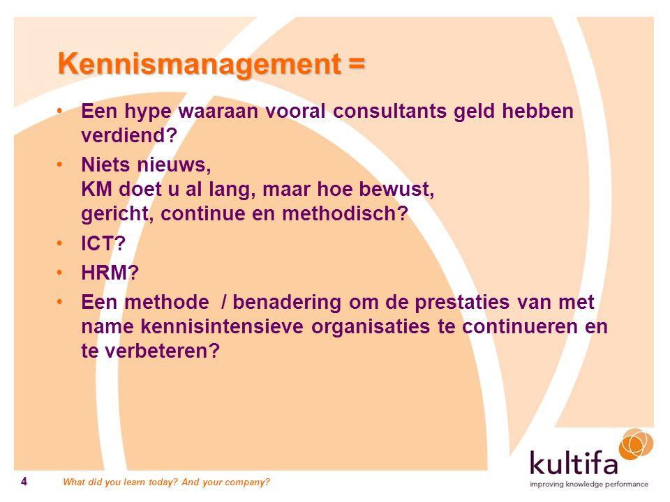Kennismanagement = Een hype waaraan vooral consultants geld hebben verdiend