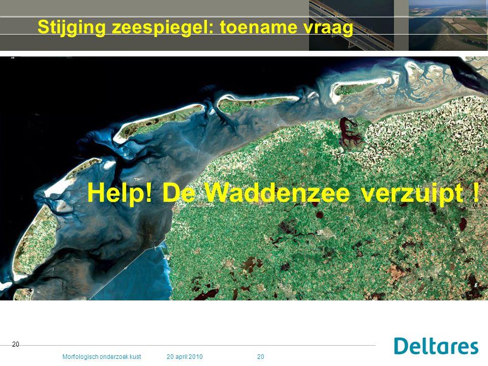 Help! De Waddenzee verzuipt !