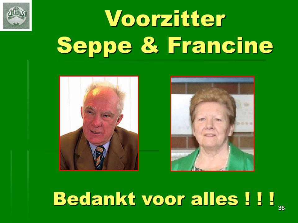 Voorzitter Seppe & Francine Bedankt voor alles ! ! ! 38 38