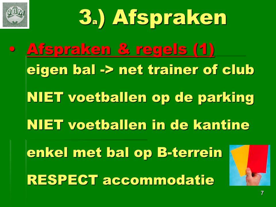 3a) Afspraken Afspraken & regels (1)