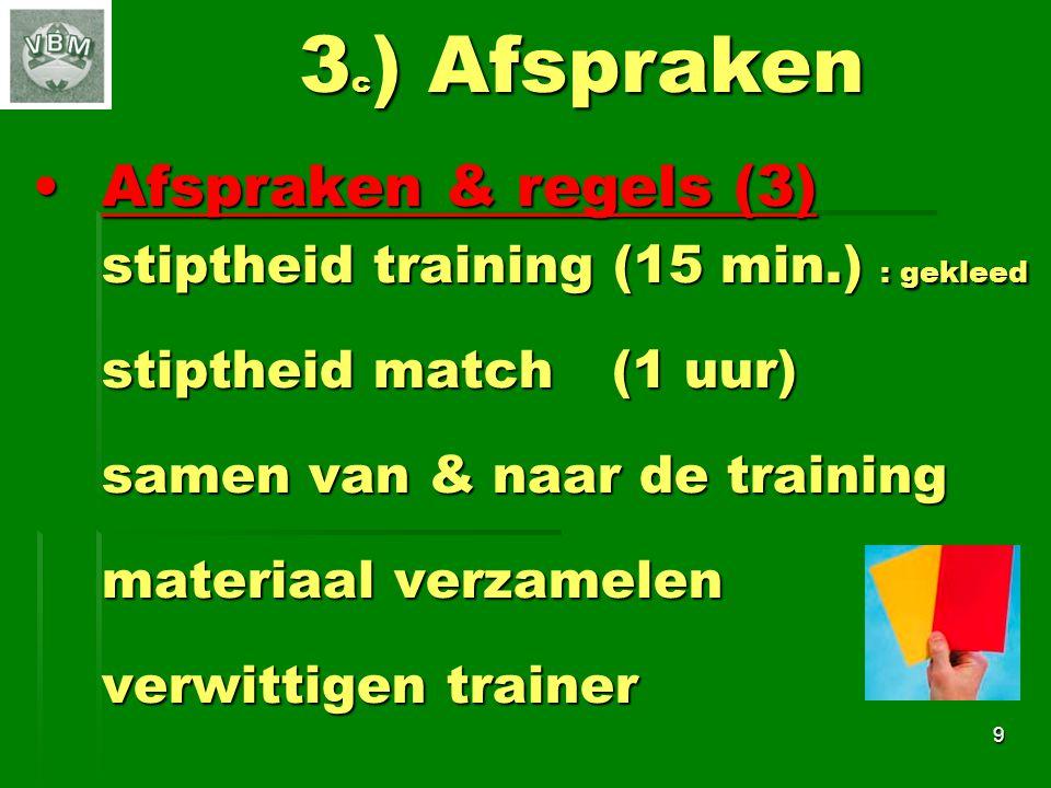 3c) Afspraken Afspraken & regels (3)