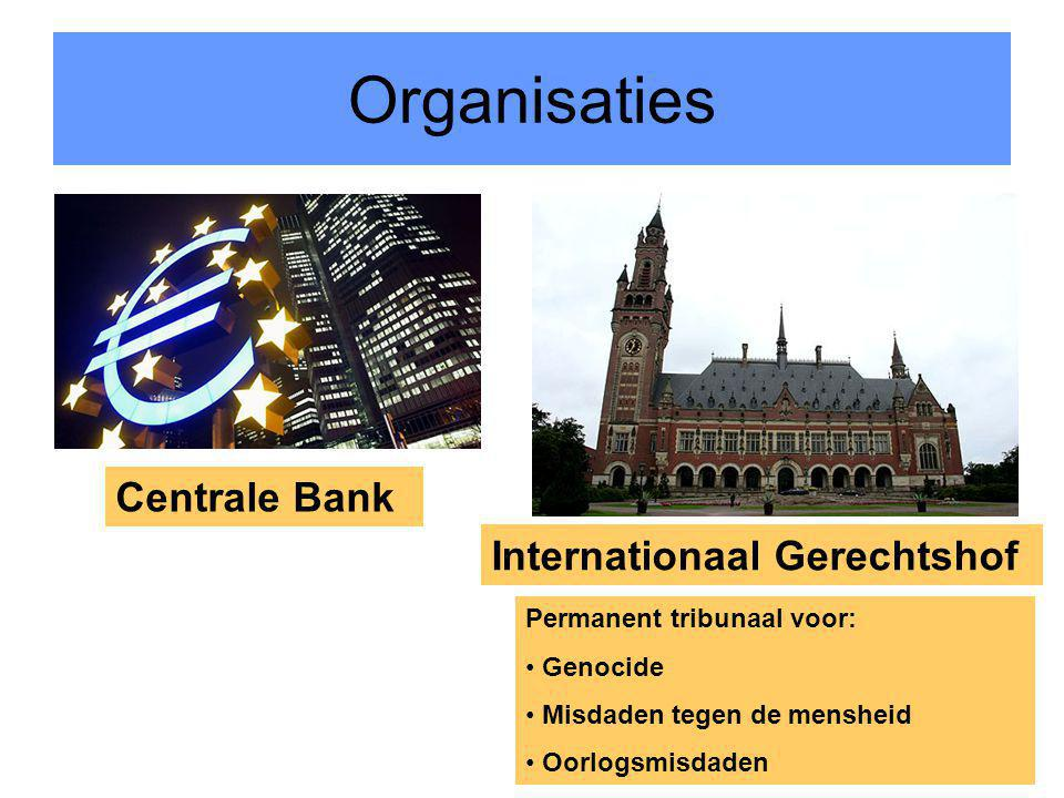 Organisaties Centrale Bank Internationaal Gerechtshof