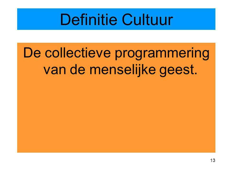 De collectieve programmering van de menselijke geest.