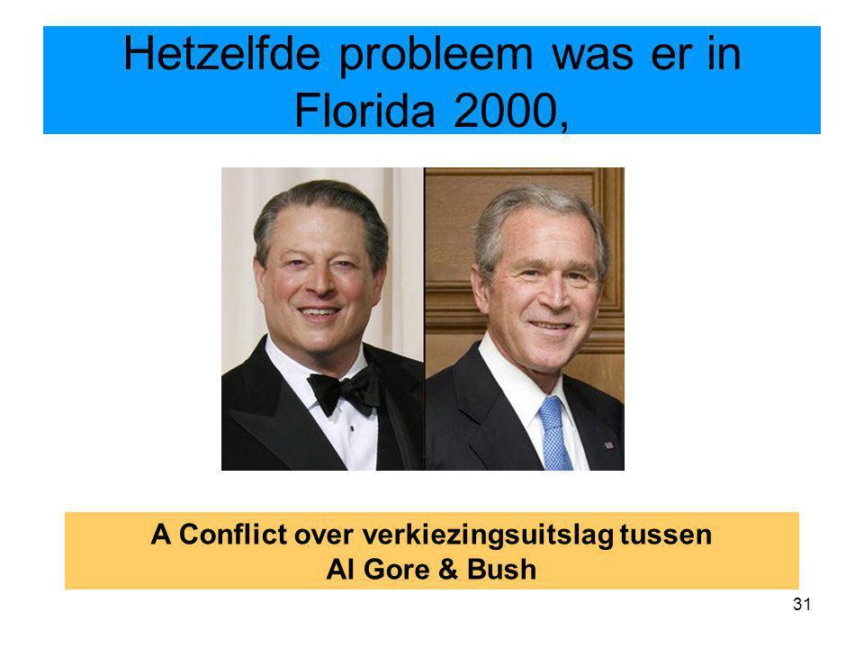 Hetzelfde probleem was er in Florida 2000,