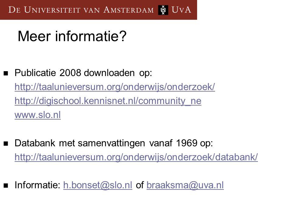 Meer informatie Publicatie 2008 downloaden op: