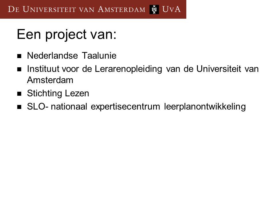 Een project van: Nederlandse Taalunie