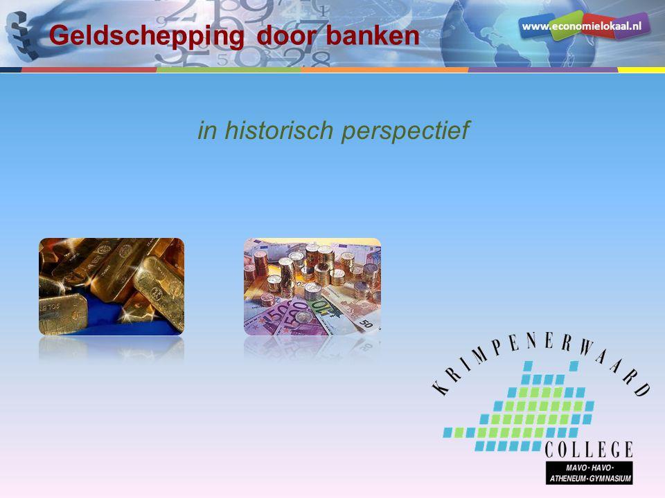 Geldschepping door banken