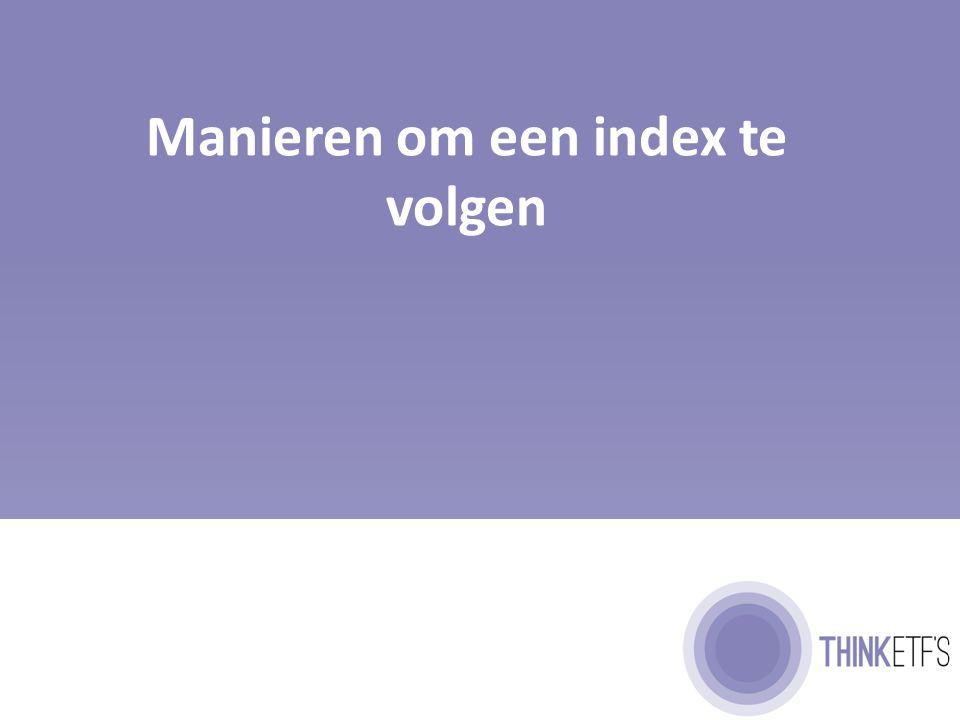 Hoe volgt een ETF een index