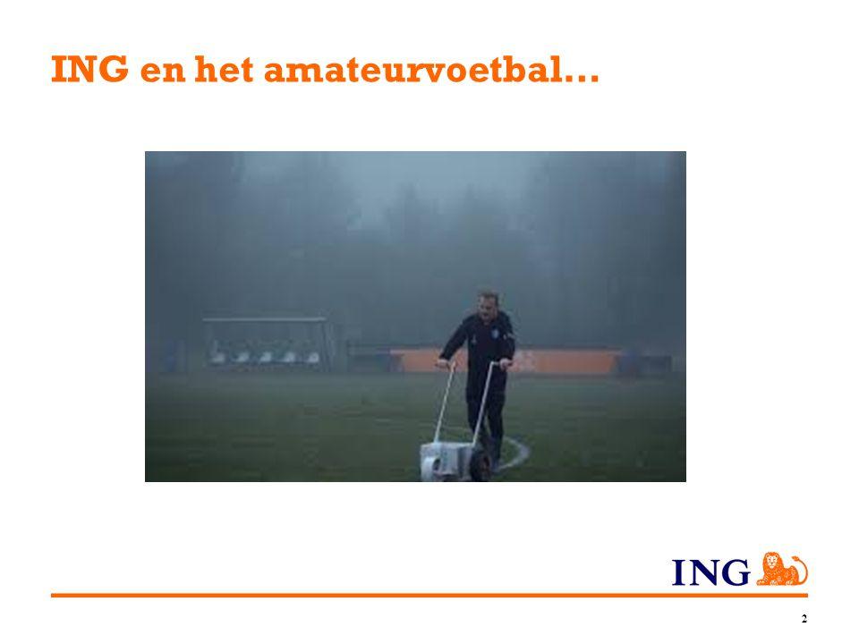ING en het amateurvoetbal…