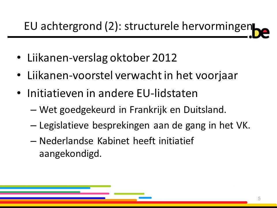 EU achtergrond (2): structurele hervormingen