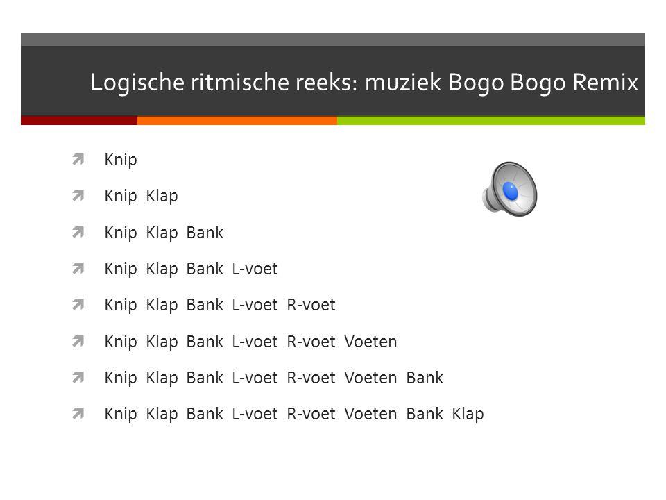 Logische ritmische reeks: muziek Bogo Bogo Remix