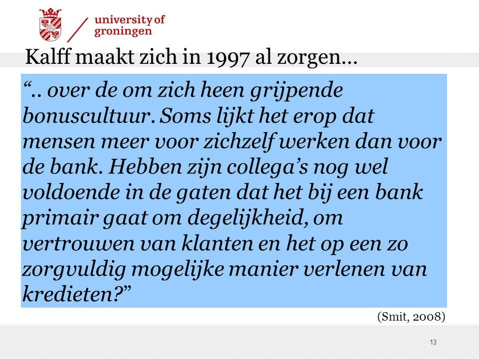 Kalff maakt zich in 1997 al zorgen…